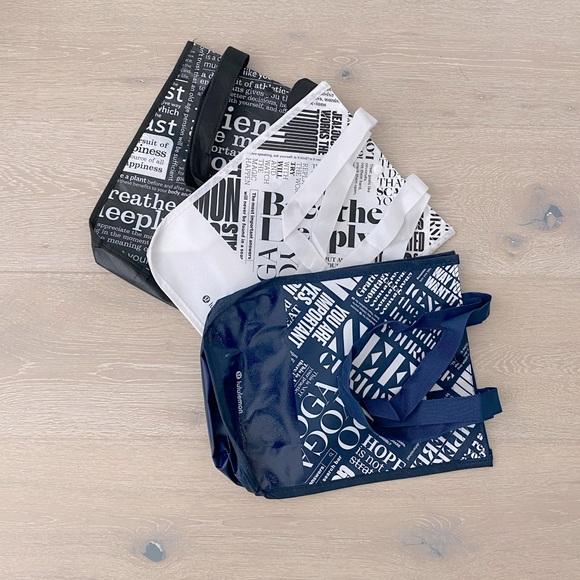 Set of 3 small Lululemon shopping bags